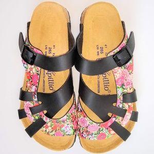 NWOT Birkenstock Papillio Pisa Floral Sandal 41
